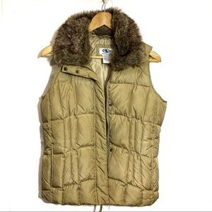 Athletic Works puffer vest brown size large